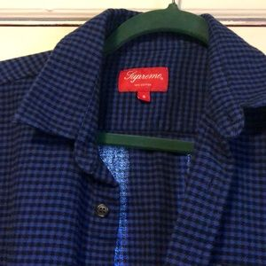 Supreme black & blue checkered shirt